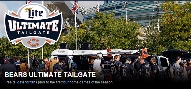 official Chicago Bears ultimate tailgate party entertainment