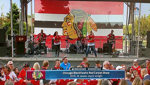blackhawks red carpet opener entertainment by Final Say